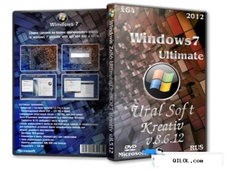 Windows 7 x64 ultimate uralsoft kreativ v.8.6.12 (rus/2012)