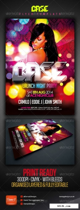 Psd - base nightclub party flyer template